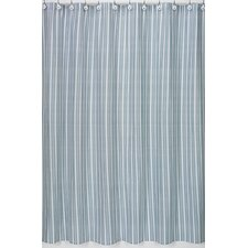 Argyle Green Blue Cotton Shower Curtain