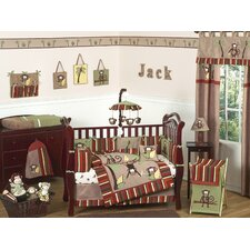 Monkey 9 Piece Crib Bedding Set