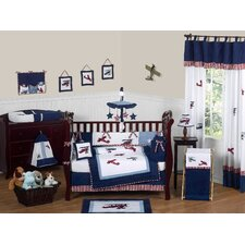 Vintage Aviator 9 Piece Crib Bedding Set