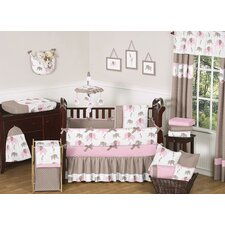 Elephant Pink 9 Piece Crib Bedding Set