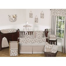 Giraffe 9 Piece Crib Bedding Set