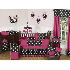 Hot Dot 9 Piece Crib Bedding Set