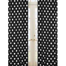 Hot Dot Cotton Rod Pocket Curtain Panels (Set of 2)