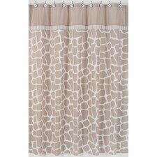 Giraffe Cotton Shower Curtain