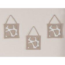 3 Piece Giraffe Wall Hanging Set