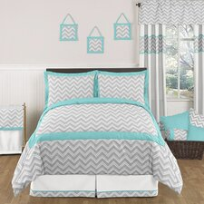 Zig Zag Turquoise and Gray Bedding Collection