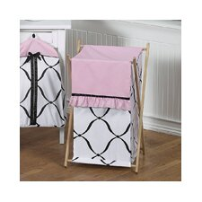 Princess Black, White and Pink Laundry Hamper