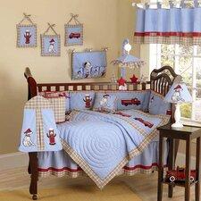 Frankie's Fire Truck 9 Piece Crib Bedding Set