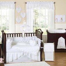 Eyelet White 9 Piece Crib Bedding Set