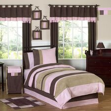 Soho Pink and Brown Kid Bedding Collection