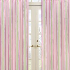Jungle Friends Stripe Print Curtain Panels (Set of 2)