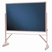 Reversible Magnetic Free-Standing Chalkboard, 4' x 6'