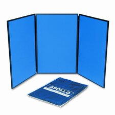 ShowIt Three-Panel Display System Free Standing Bulletin Board, 3' x 6'