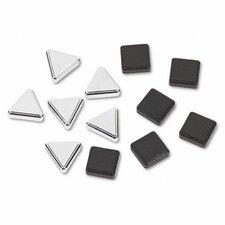 Metallic Magnets, 12/Pack