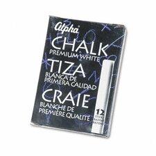 Alpha Nontoxic Low Dust Chalk, 12 Sticks/Pack (Set of 4)