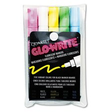 Glo-Write Fluorescent Markers (Set of 5)
