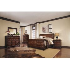 Whiskey Oak Sleigh Customizable Bedroom Set
