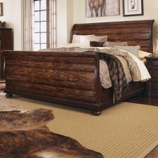 Whiskey Sleigh Bed