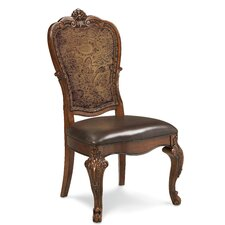 Old World Upholstered Back Side Chair (Set of 2)