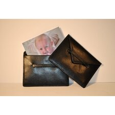 Lizard Grain Accessory Portable Leather Photo Case