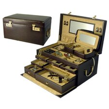 Croco Grain Large Jewelry Box
