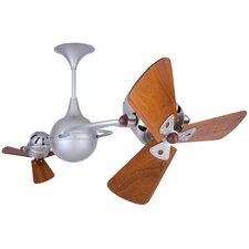 """53"""" Italo Ventania 3 Wooden Blade Ceiling Fan"""