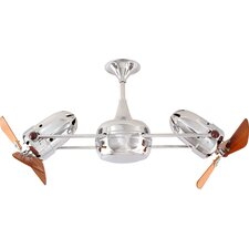 """36"""" Duplo Dinamico 3 Wooden Blade Rotational Ceiling Fan"""