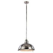Vintage 1 Light Bowl Pendant