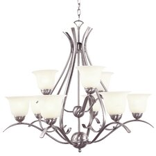 Contemporary 9 Light Chandelier