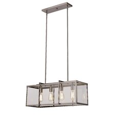 Boxed 4 Light Kitchen Island Pendant