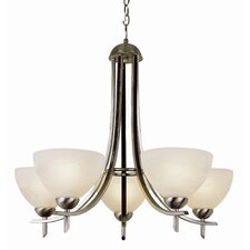 Contemporary 5 Light Chandelier
