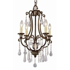 Crystal Flair 4 Light Chandelier with Crystal Accents