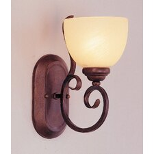 1 Light Wall Sconce with Swirl Shade