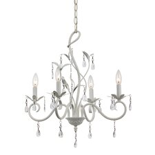 Climbing Vine 4 Light Crystal Chandelier