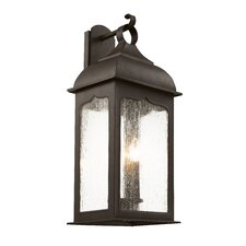Seeded Masonic 3 Light Wall Lantern