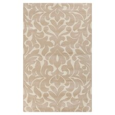 Modern Classics Light Brown and Cream Area Rug