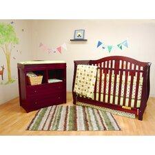 Athena Desiree Convertible 2 Piece Crib Set
