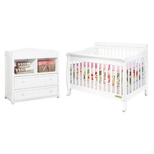 Alice 3-in-1 Convertible 2 Piece Crib Set