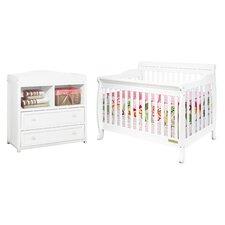 Alice 3-in-1 Convertible 2 Piece Crib Set