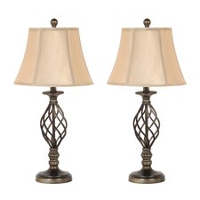"""27"""" H Table Lamp with Bell Shade (Set of 2)"""