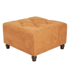 Duncan Tufted Upholstered Cube Ottoman with Removable Legs