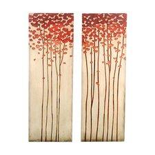 Crafted Tree Original Painting Plaque (Set of 2)