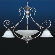 Alava II Four Light Traditional Chandelier in Silver Oxide