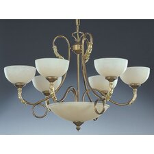 Torre Traditional Chandelier in Painted Bronze