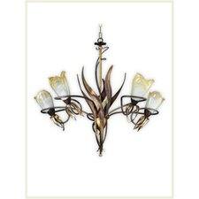 Lombardia Five Light Chandelier in Weathered Coffee