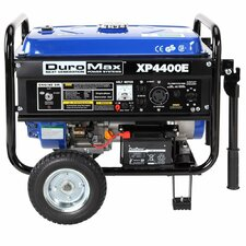 Powered Portable 7.0 HP OHV 4-Cycle 4,400 Watt Gasoline Generator with Wheel Kit and Electric Start