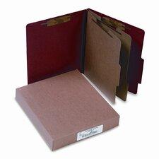 Pressboard 25-Pt. Classification Folder, Letter, Six-Section, 10/Box