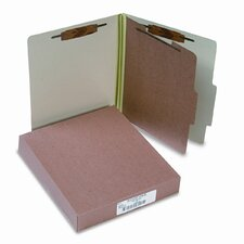 Pressboard 25-Pt. Classification Folder, Letter, 4-Section, 10/Box