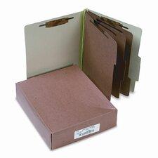 Pressboard 25-Pt. Classification Folder, Letter, 8-Section, 10/Box