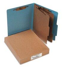 Pressboard 25-Pt. Classification Folders, Letter, Six-Section, 10/Box